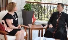 الراعي التقى وزيرة استرالية من اصل لبناني ورؤساء بلديات