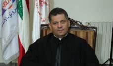 الأب غانم هنأ باسم جمعية نسروتو- أخوية السجون نقيب المحامين الجديد