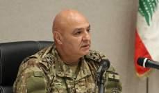 قائد الجيش: نبذل جهودا متواصلة لمساعدة العسكريين بجميع الوسائل الممكنة