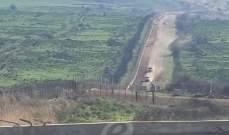 النشرة: قوة إسرائيلية تفقدت الطريق العسكري بمحاذاة السياج الحدودي