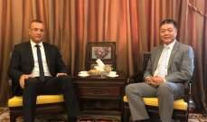درويش عرض العلاقات الاقتصادية والتجارية مع سفير الصين