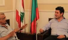 أسامة سعد يلتقي وفداً من جمعية بقسطا