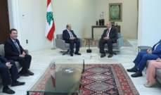 الرئيس عون: لبنان حريص على تعزيز علاقات التعاون مع العراق