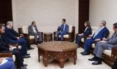 الأسد: نقف الى جانب إيران في دفاعها عن حقوق شعبها ضد كل ما تتعرض له
