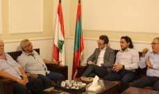 سعد استقبل مسؤول العلاقات السياسية في مكتب الممثل الخاص للأمم المتحدة