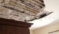 انهيار مبنى في الناعمة بشكل جزئي والسكان يخلون منازلهم بمساعدة الدفاع المدني