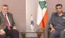 اللواء عثمان استقبل المنسّق الخاص للأمم المتحدة في لبنان يان كوبيش
