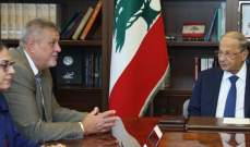 الرئيس عون:اي اعتداء على سيادة لبنان سيقابل بدفاع عن النفس تتحمل اسرائيل نتائجه