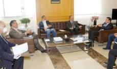 نجار التقى وفدا من أعضاء مجلس إدارة نقابة مقاولي الأشغال العامة