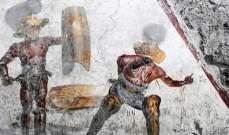 اكتشاف لوحة جدارية  في بومبي تصوّر قتالا وحشيا لمعركة دامية