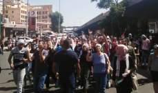 القوى الأمنية تمنع مسيرة اللاجئين الفلسطينيين باتجاه مجلس النواب