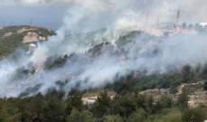 النشرة: العمل على إخماد حريق شب في أعشاب في بيت مسك