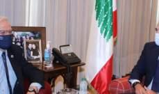 الحريري بحث مع بوريل الاوضاع والعلاقات بين لبنان والاتحاد