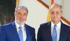 """عميد الخارجية في """"القومي"""" التقى سفير اسبانيا"""
