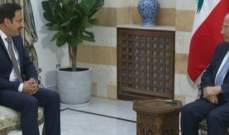 الرئيس عون عرض مع سفير لبنان لدى غانا العلاقات الثنائية
