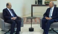 الرئيس عون تباحث مع بري في توحيد الجهود لمعالجة احداث قبر شمون