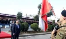 وصول بري الى الكلية الحربية للمشاركة باحتفال عيد الجيش