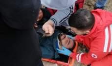 النشرة: اصابة مواطن جراء تدهور آليته على الثلج في شبعا