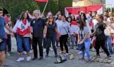 وقفة تضامنية للبنانيين في قبرص مع المتظاهرين في لبنان