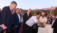 الجميل وضع حجر الأساس  لمجمع مار شربل السكني في حمانا: سنبقى في قرانا