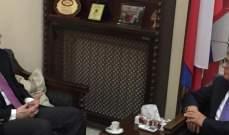 بلال تقي الدين زار السفير الروسي وبحث معه الاوضاع