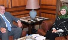 عز الدين استقبلت يان كوبيش في مجلس النواب
