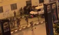 الجيش عمل على تفريق تظاهرة في شارع رياض الصلح قرب قصر الحلاب بطرابلس