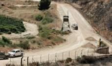 الجيش الاسرائيلي تابع اعمال الحفريات بالجهة المقابلة لخراج بلدة بليدا