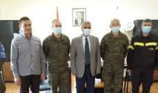 محافظ النبطية استقبل قائدي القطاع الشرقي في اليونيفيل وتمنى تطوير العلاقات