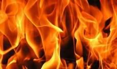 بلدية السكسكية أهمدت حريقا اندلع منذ أمس في مكب النفايات التابع للبلدة