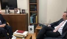 كنعان التقى سفير بريطانيا والمدير الاقليمي للبنك الدولي بلبنان