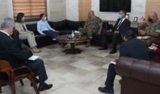 قائد الجيش عرض مع هيل المساعدات التي يحتاجها الجيش بعد انفجار المرفأ