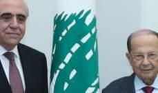 الرئيس عون استقبل نقيب المحررين واطلع منه على اوضاع الاعلاميين