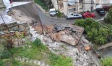 النشرة: وزارة الأشغال تعاين الجدار المنهار في حارة صيدا