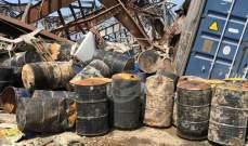 """""""النشرة"""" تكشف بالصور كيف كان التعامل مع مواد شديدة الخطورة في مرفأ بيروت"""