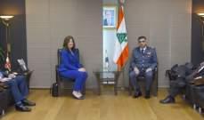 عثمان التقى السفيرة الأميركية الجديدة في لبنان