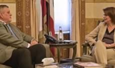 الحسن بحثت مع كوبيتش في التطورات في ضوء استقالة الحريري