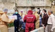 بلدية صيدا وزعت 2000 حصة مواد تنظيف وتعقيم للمنازل في صيدا القديمة