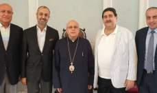 المطران درويش استقبل عضو المجلس الدستوري القاضي ايلي مشرقاني