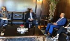 رئيس غرفة التجارة في صيدا عرض مع سفير باكستان تعزيز العلاقات التجارية