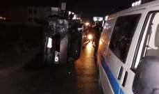 جريحان جراء حادث سير على طريق عام الحوش - صور