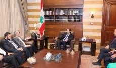 الحريري لوفد من حماس: ملف العمال الفلسطينيين بات في عهدة الحكومة
