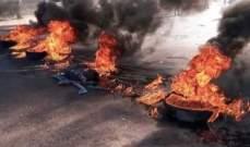 الجيش يحاول فتح الطريق عند مستديرة الشيفروليه