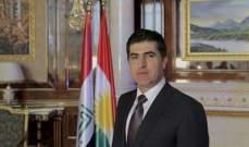 بارزاني: ندعم الكاظمي في تشكيل الحكومة العراقية الجديدة