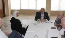 اجتماع ضم بهية الحريري وضو والسعودي تناول شؤونا خدماتية في صيدا
