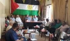 العمل الفلسطينية المشترك : لرفع الغطاء السياسي عن كل مخل بأمن مخيم عين الحلوة