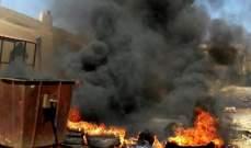 قطع الطريق الرئيسية لوادي خالد المجدل احتجاجا على مصادرة اغنام معدة للتهريب