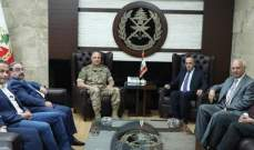 قائد الجيش النقى رئيس تجمع الصناعيين في البقاع