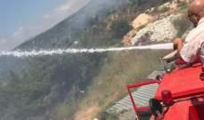 إخماد حريق كبير في رشدبين الكورة