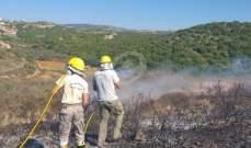 النشرة: إخماد حريق شب قرب المنازل في بلدة الجبين في صور